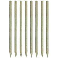 vidaXL Zaostrzone słupki ogrodzeniowe 8 szt. drewno impregnowane, 5 x 200 cm