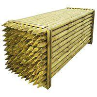 vidaXL Zaostrzone słupki ogrodzeniowe 100 szt. drewniane, 6x240 cm