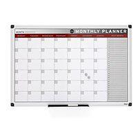 Tablica planu miesięcznego, magnetyczna, 900x600 mm