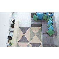 Niebieski wytrzymały dywan Webtapetti Geo, 135x190 cm