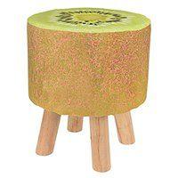 Taboret z owocowym motywem, stołek - zielone kiwi