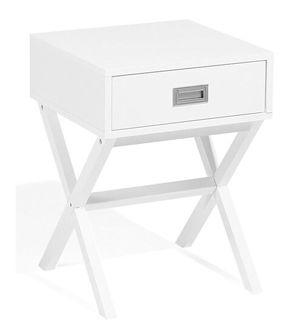 Stolik nocny biały 1 szuflada MONROE