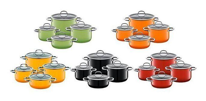SILIT Passion Red, Yellow, Orange, Black, Green zestaw granków 4 cz.