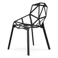 Krzesło Carbonia Całe Czarne Gap One Chair Stool One Czarne