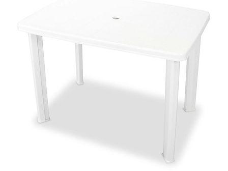 vidaXL Stół ogrodowy, plastik, biały, 101 x 68 x 72 cm