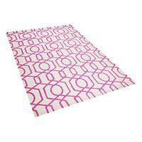 Dywan różowo-kremowy140 x 200 cm krótkowłosy LAMIA