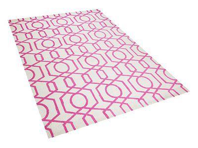Dywan różowo-beżowy 160 x 230 cm krótkowłosy LAMIA