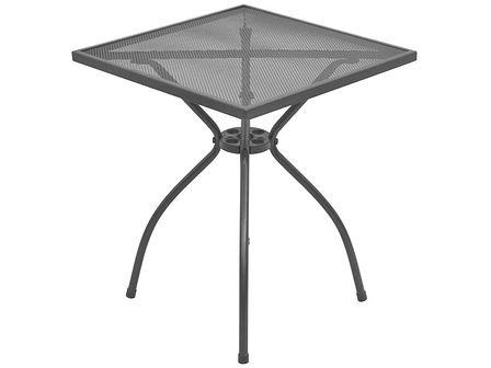 vidaXL Stół ogrodowy bistro, stal, siatka, 60x60x70 cm