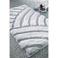 Biały dywanik łazienkowy Confetti Karya, 60x100 cm