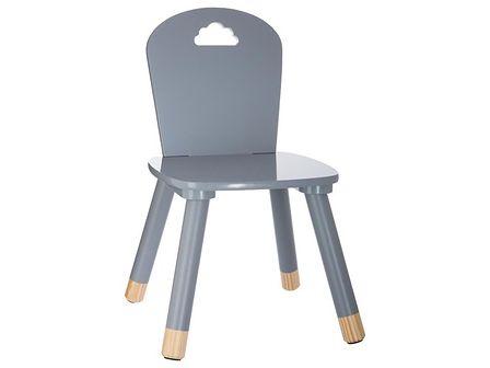 Krzesło dziecięce, DZIECIĘCY MEBEL - kolor szary, 50 x 28 x 28 cm