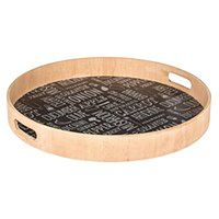Drewniana Taca do serwowania posiłków - Ø 40 cm