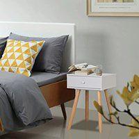 vidaXL Szafki nocne, 2 szt., drewno sosnowe, 40 x 30 x 61 cm, białe