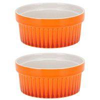 Kolorowe ceramiczne miseczki, kokilki wielofunkcyjne 260 ml - 2szt.