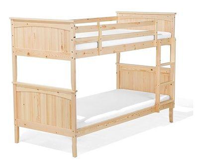 Łóżko piętrowe jasne drewno 90 x 200 cm RADON