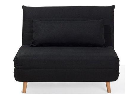 Sofa z funkcją spania czarna SETTEN