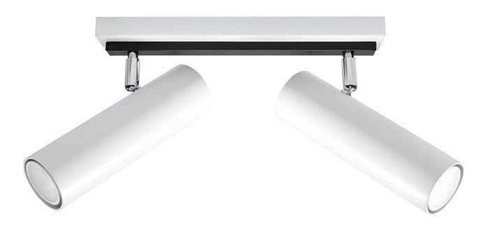 SOLLUX Designerskie Oświetlenie Plafon DIREZIONE 2 Biały Listwa LED Walce