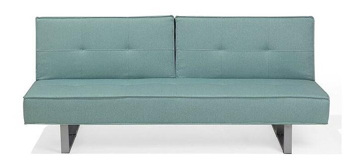 Sofa z funkcją spania tapicerowana miętowa 190 cm DUBLIN