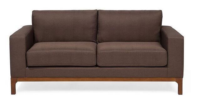 Sofa dwuosobowa tapicerowana brązowa RISSA