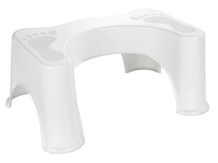 Stołek toaletowy z tworzywa sztucznego, praktyczne akcesorium łazienkowe - WENKO
