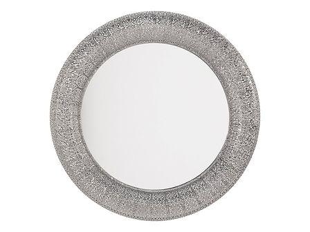 Lustro ścienne srebrne ø80 cm CHANNAY