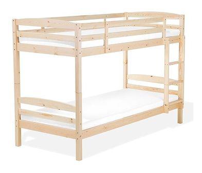 Łóżko piętrowe jasne drewno 90 x 200 cm REGAT