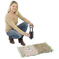 Worki próżniowe do przechowywania, zestaw plastikowych toreb + pompka - 40 x 60 cm (3 szt.), 50 x 70 cm (2 szt.), WENKO