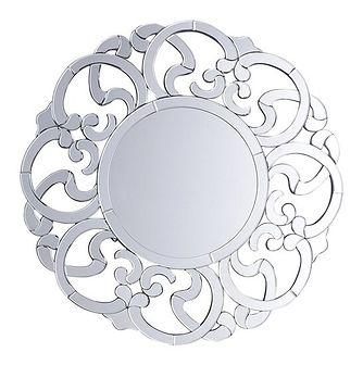 Lustro ścienne srebrne ø70 cm MORNAIX