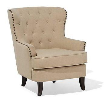 Fotel tapicerowany beżowy VIBORG II