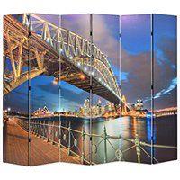vidaXL Składany parawan, 228x180 cm, Most Portowy w Sydney