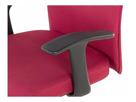 Beliani Krzesło biurowe czerwone regulowana wysokość ELITE