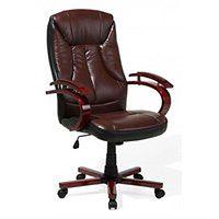 Beliani Krzesło biurowe brązowo-czarne MARSHAL