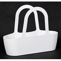 Koszyk ozdobny JASMIN 43x16/34 - biały