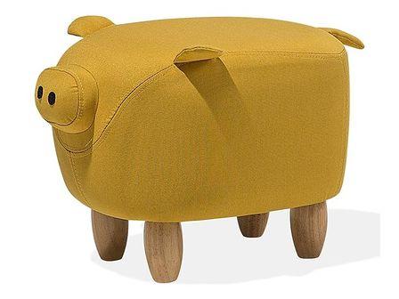 Hoker tapicerowany żółty PIGGY