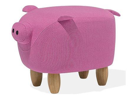 Hoker tapicerowany różowy PIGGY