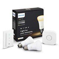---- DOSTĘPNE OD RĘKI --- Zestaw oświetlenia inteligentnego LED HUE 2 x E27 Philips