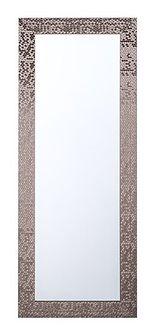 Lustro ścienne brązowe 50 x 130 cm MARANS