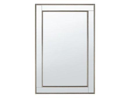 Lustro ścienne srebrne 61 x 91 cm FENIOUX
