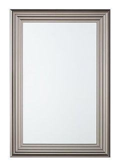 Lustro ścienne srebrne 61 x 91 cm CHATAIN