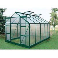 Szklarnia ogrodowa z poliwęglanu o pow. 9  m² COROLLE II z podstawą - Zielona