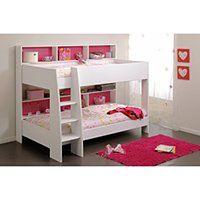 Łóżko piętrowe LENNY – 2 x90 ×200cm – Półki – Dwustronne tło różowo-niebieskie