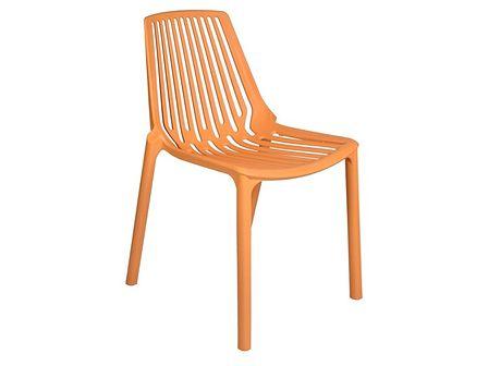 Krzesło ogrodowe Tulon pomarańczowe