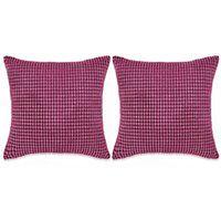 vidaXL Zestaw 2 poduszek z weluru, w kolorze różowym, 60 x 60 cm