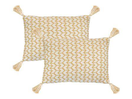 vidaXL 2 poduszki, 40x60 cm, styl boho, żółte