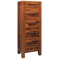 vidaXL Komoda z litego drewna akacjowego, 45 x 32 x 115 cm