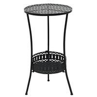 vidaXL Okrągły stolik bistro, styl vintage, metalowy, 40x70 cm, czarny