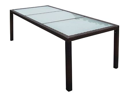 vidaXL Ogrodowy stół jadalniany z polirattanu, 190x90x75 cm, brązowy