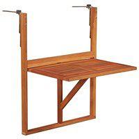 vidaXL Stolik balkonowy z litego drewna akacjowego, brązowy