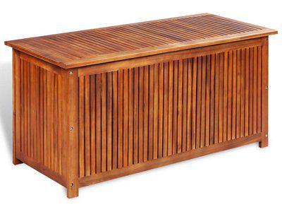 vidaXL Skrzynia ogrodowa, 117 x 50 x 58 cm, lite drewno akacjowe