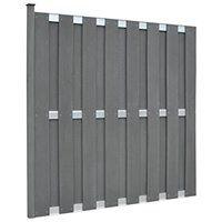 vidaXL Panel ogrodzeniowy z WPC z 1 słupkiem, 180 x 180 cm, szary