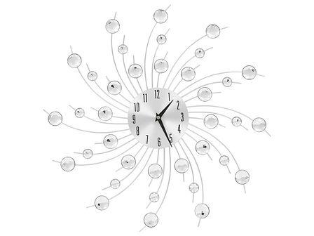 vidaXL Zegar ścienny z mechanizmem kwarcowym, nowoczesny design, 50 cm